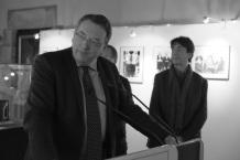 Marc Andreu Sabater, maire de Vire-Normandie, lors de l'inauguration